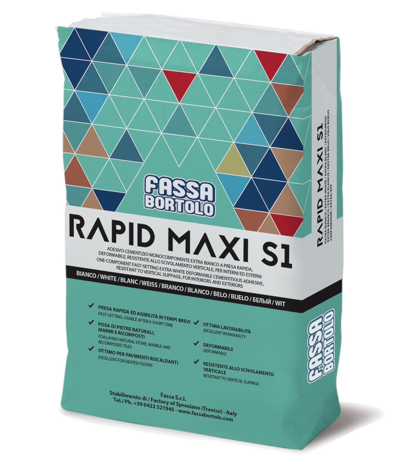RAPID MAXI S1: Einkomponentiger Schnellkleber mit guter Elastizität in extraweiß und grau, für Boden- und Wandbeläge im Außen- und Innenbereich