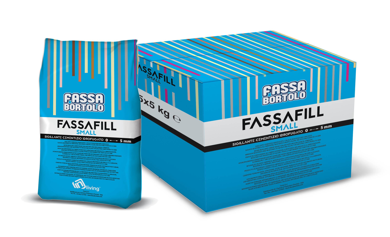 FASSAFILL SMALL: Hydrophobierter Zementversiegler mit hohen mechanischen Festigkeiten und großer Abriebbeständigkeit, schimmelpilz- und algenbeständig, für die Verfüllung von Fugen von 0 bis 5 mm