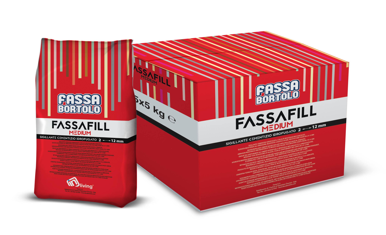 FASSAFILL MEDIUM: Hydrophobierter Zementversiegler mit hohen mechanischen Festigkeiten und großer Abriebbeständigkeit, schimmelpilz- und algenbeständig, für die Verfüllung von Fugen von 2 bis 12 mm