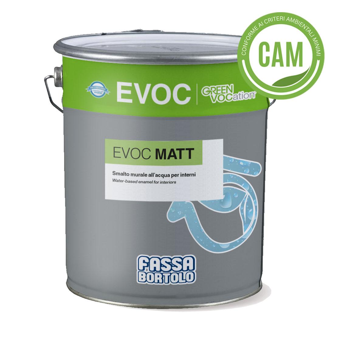 EVOC MATT: Wasserbasierter matter Wandlack für den Innenbereich
