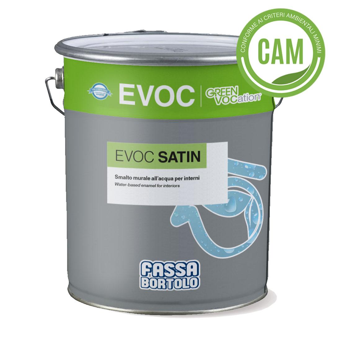 EVOC SATIN: Wasserbasierter matter Wandlack für den Innenbereich