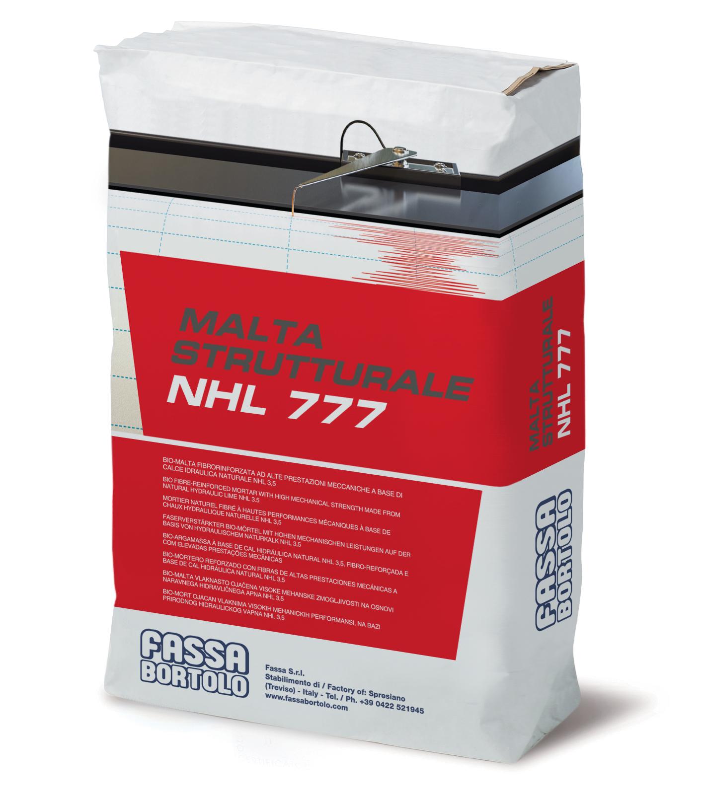 MALTA STRUTTURALE NHL 777: Faserverstärkter Bio-Strukturmörtel auf Basis hydraulischen Naturkalks NHL 3,5 für den Innen- und Außenbereich