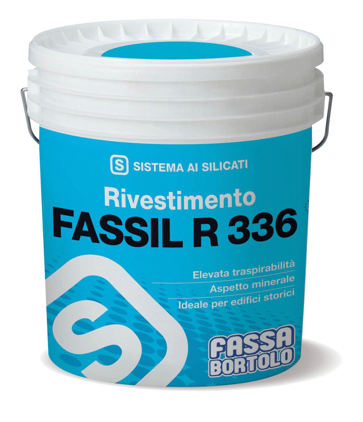 FASSIL R 336: Mineralischer Strukturdeckputz auf Silikatbasis, in Vollabrieb