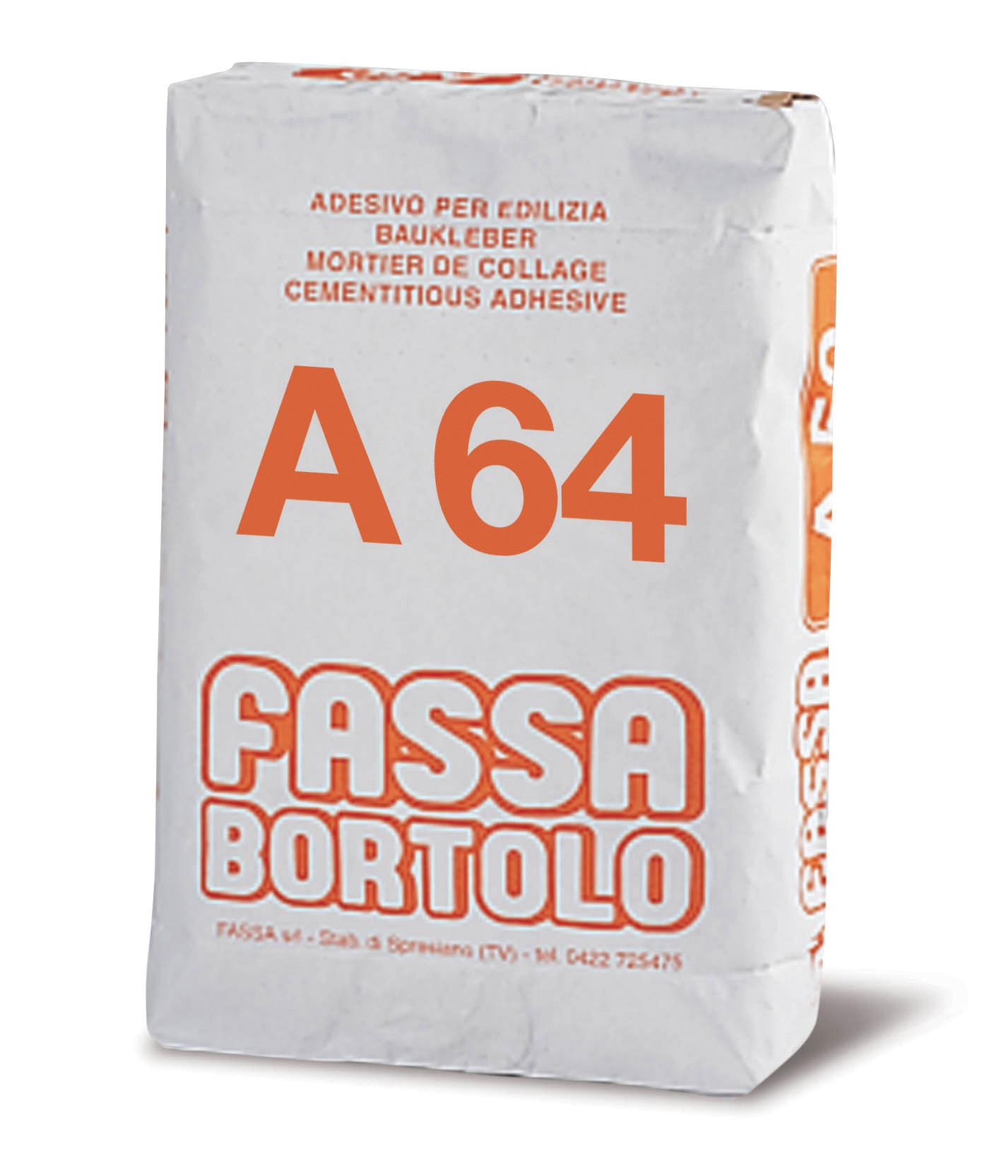 A 64: Weißer Baukleber auf Kalk-Zementbasis