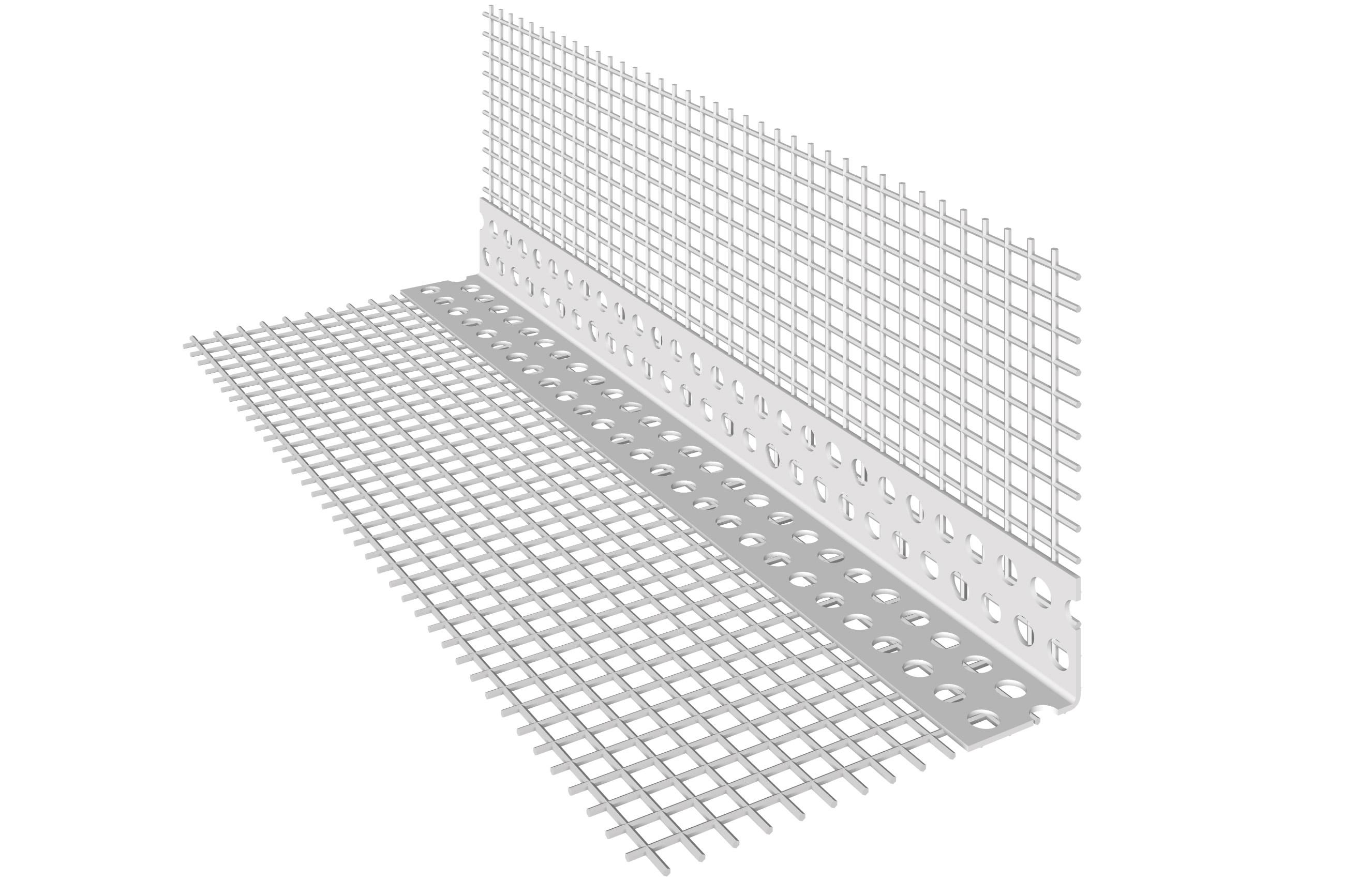 KANTENPROFIL AUS PVC: Kantenprofil aus PVC mit aufgeklebtem Glasfasergewebe