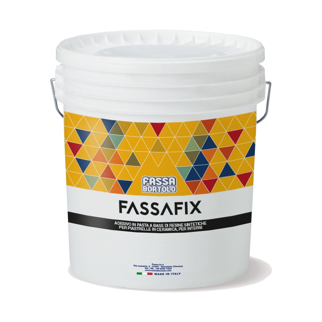 FASSAFIX: Gebrauchsfertiger pastöser Kleber in weiß, für die Verklebung von keramischen Wandfliesen mittleren Formats im Innenbereich