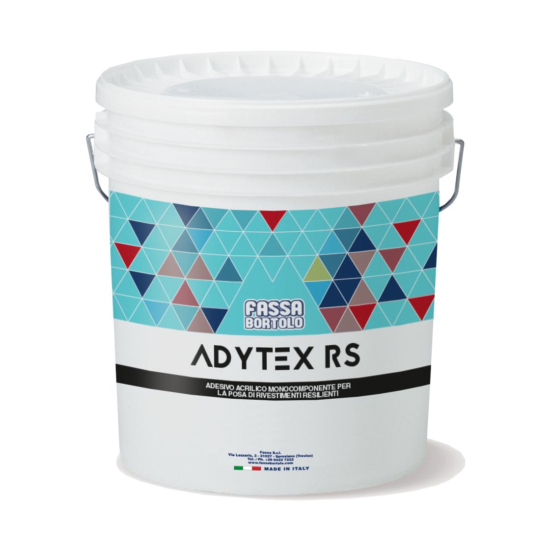 ADYTEX RS: Einkomponentiger Acrylkleber mit hoher Anfangshaftung, für elastische Bodenbeläge im Innenbereich