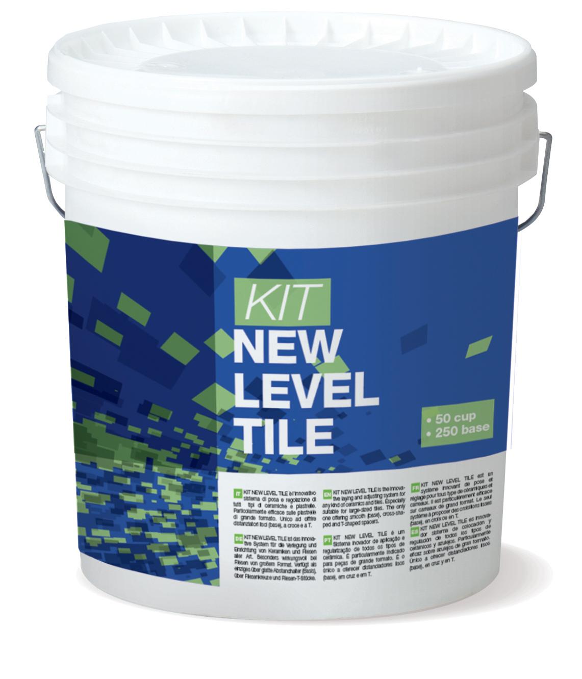 KIT NEW LEVEL TILE: Kit für die Fliesenausrichtung bestehend aus 50 Cup und 250 Base